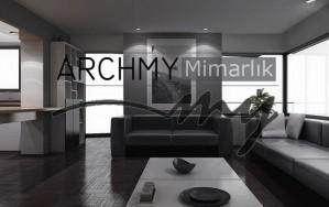 ARCHMY Mimarlık İzmir Alsancak Tadilat Projesi Minimalist Tasarım