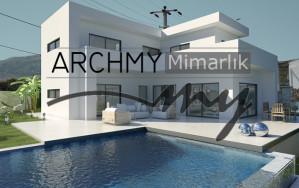 ARCHMY Mimarlık İzmir Karaburun İskele Burgaz arkası Villa Mimari Proje Tasarım Mimar Muhittin YUFKA
