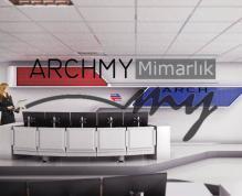 """ARCHMY Mimarlık, Yüksek Mimar Muhittin YUFKA tarafından hazırlanan, """"İzmir Metro A.Ş.Kontrol Merkezi"""" projesini incelemek için sayfamızı ziyaret edin."""