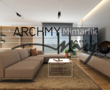 """ARCHMY Mimarlık, Y. Mimar Muhittin YUFKA tarafından hazırlanan, """"Balçova M-Y Evi Tasarımı"""" uygulama projesini incelemek için sayfamızı ziyaret edin."""